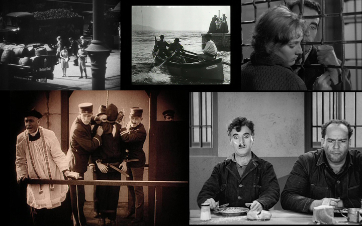 People on Sunday (1930); Boat Leaving the Port (1895); Pickpocket (1959); Intolerance: Love's Struggle throughout the Ages (1916); Modern Times (1936)