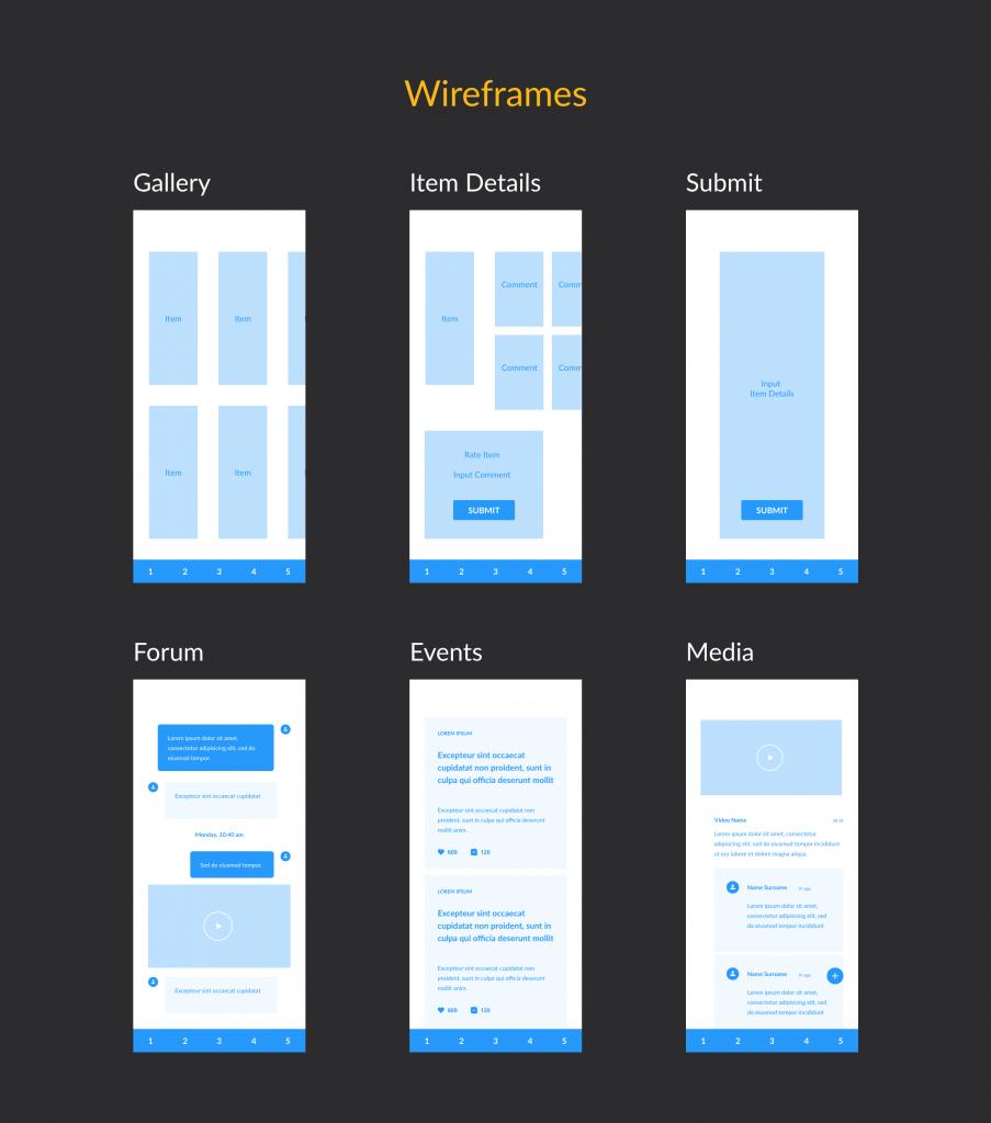 Wireframes - UX Portfolio