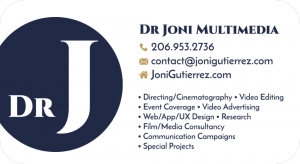 Dr Joni Multimedia / Joni Gutierrez Business Card